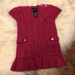 Ralph Lauren knit sweater dress 18 months